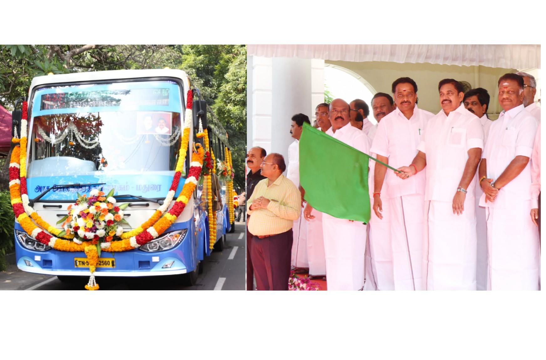 240 புதிய பேருந்துகள், 2 நடமாடும் பணிமனைகளை தொடங்கி வைத்தார் தமிழக முதல்வர்.!