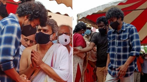 பாடகர் எஸ்.பி.பி. உடலுக்கு நேரில் அஞ்சலி செலுத்திய நடிகர் விஜய்!