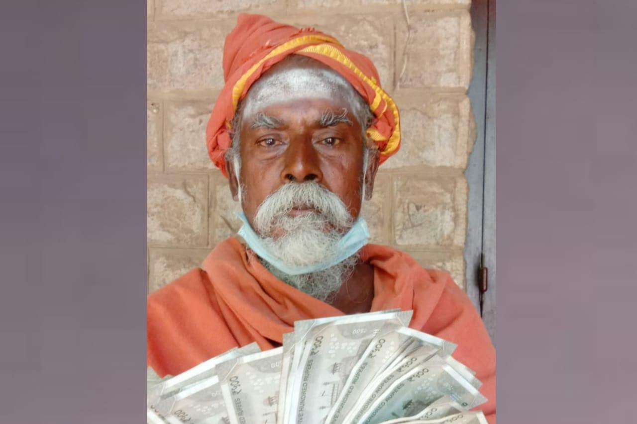 மதுரையில் 12வது முறையாக பத்தாயிரம் நிவாரண நிதி வழங்கும் முதியவர்: