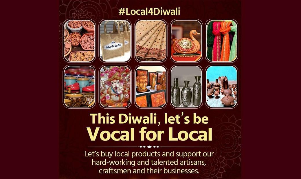 உள்ளூர்ப் பொருட்களுடன் தீபாவளி, #Local4Diwali ஹேஸ்டாக்டுடன் பகிருங்கள் : மத்திய ஜவுளி அமைச்சகம் வேண்டுகோள்