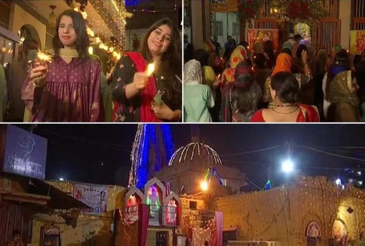 பாகிஸ்தானில்  இந்துக்கள், கோவில்களில் விளக்கேற்றி தீபாவளி கொண்டாட்டம்.!