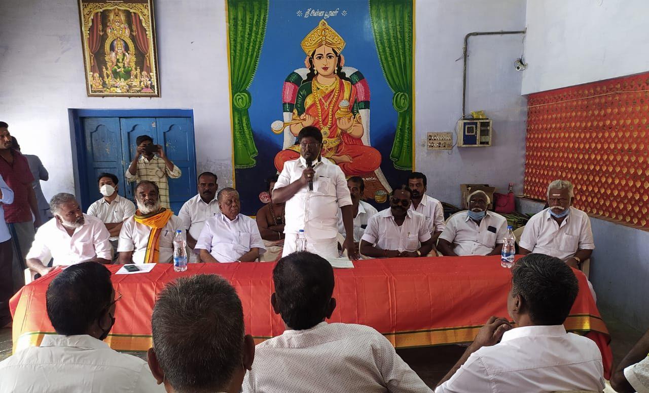 சோழவந்தான் ஜெனகை மாரியம்மன் கோவில் மகா கும்பாபிஷேகம் ஆலோசனைக் கூட்டம்