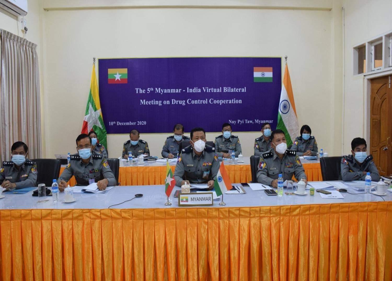 போதைப் பொருள் கட்டுப்பாட்டில் ஒத்துழைப்பு: இந்தியா-மியான்மர் இடையே 5வது இருதரப்புக் கூட்டம்