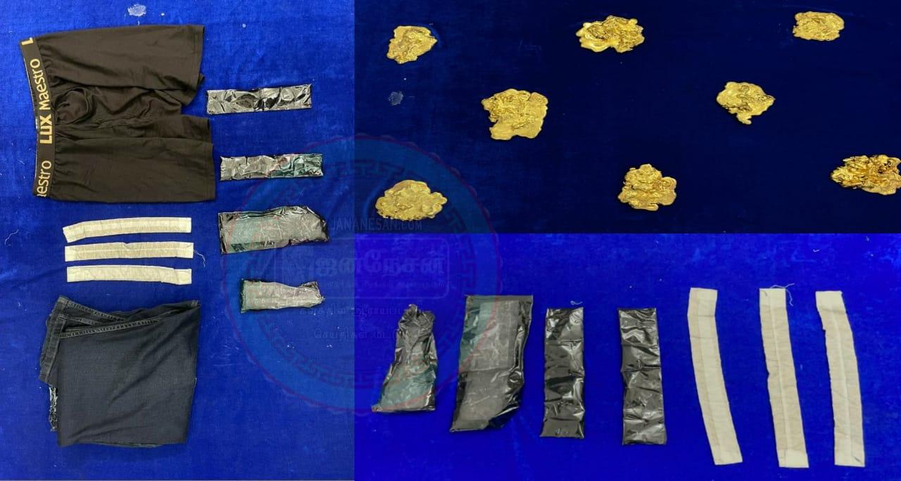 சென்னை விமான நிலையத்தில் ரூ.4.5 கோடி மதிப்பிலான 9 கிலோ தங்கம் பறிமுதல் : 8 பேர் கைது.!